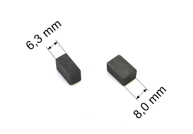 217 uhlíkové kartáče 6,3 x 8,0 mm