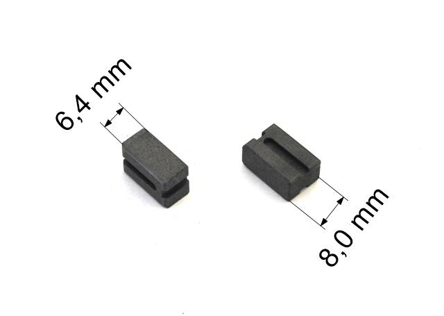 214 uhlíkové kartáče 6,4 x 8,0 mm