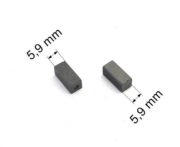 209 uhlíkové kartáče 5,9 x 5,9 mm