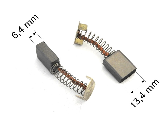 253 uhlíkové kartáče DC 12-24 V  6,4 x 13,4 mm