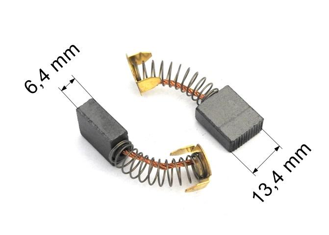 252 uhlíkové kartáče DC 12-24V  6,4 x 13,4 mm