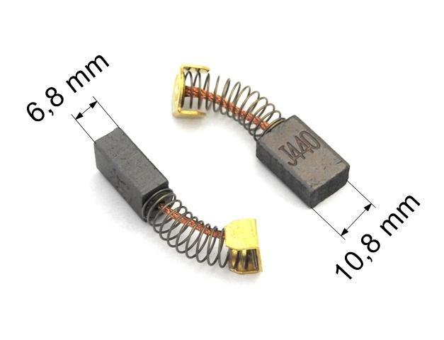 247 uhlíkové kartáče DC 12-24V  6,8 x 10,8 mm