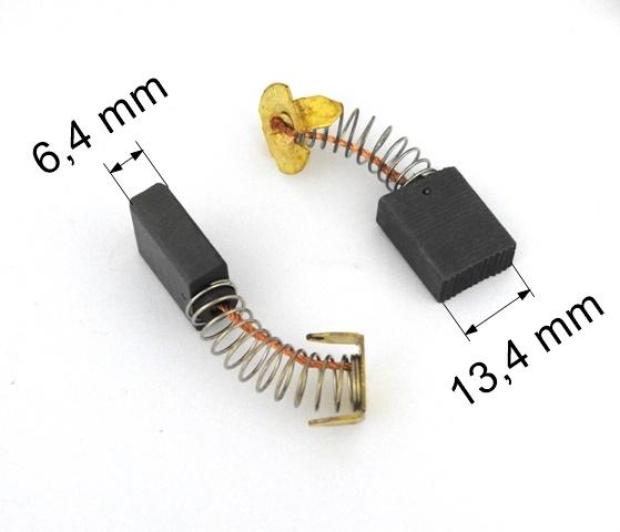 008 uhlíkové kartáče 6,4 x 13,4 mm