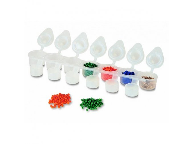 Kelímky prázdné na akrylové barvy, ozdoby, třpyt a pigment ( 7x6ml)
