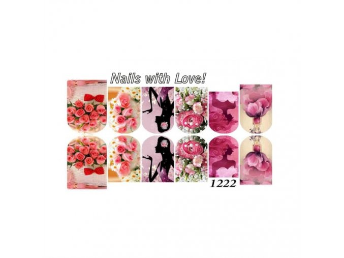 Slider nails with love! 1222