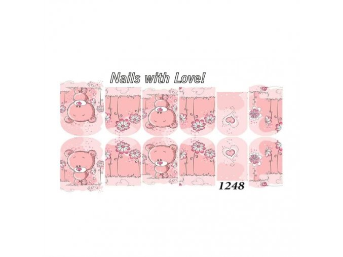 Slider nails with love! 1248
