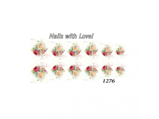 Slider nails with love! 1276