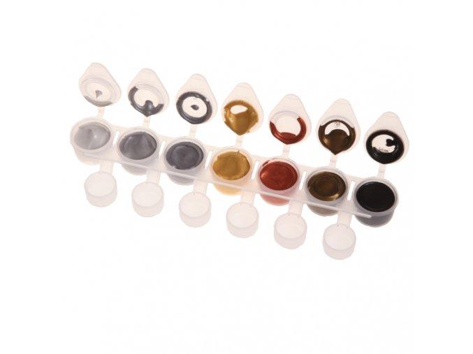 Akrylové barvy Nail Art METALIC