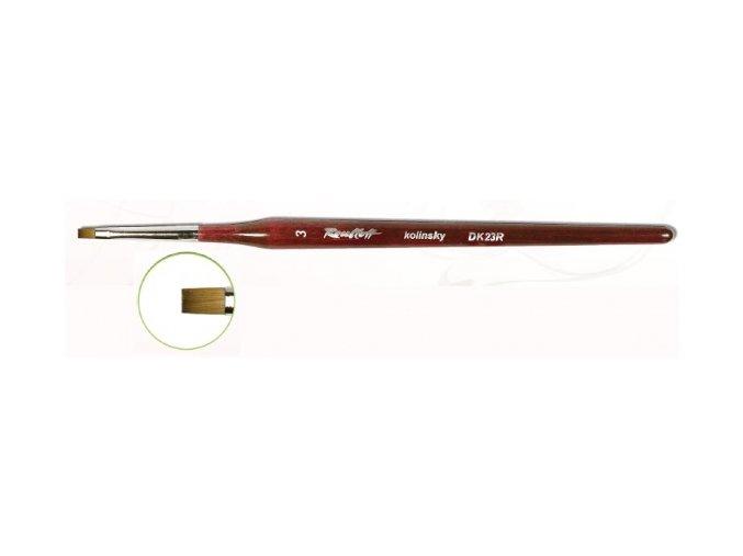 DK23-04 štětec pro  Gel + One Stroke rovný (šířka 4 mm)