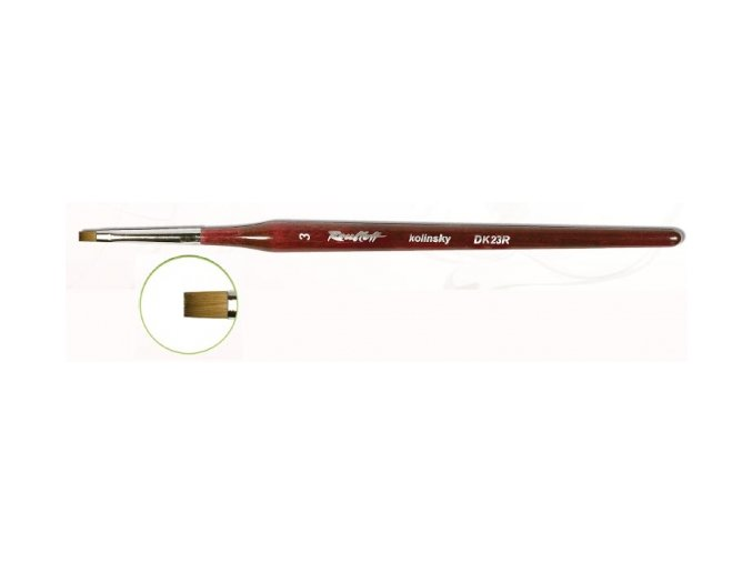 DK23R-04 štětec pro Gel + One Stroke rovný (šířka 4 mm)