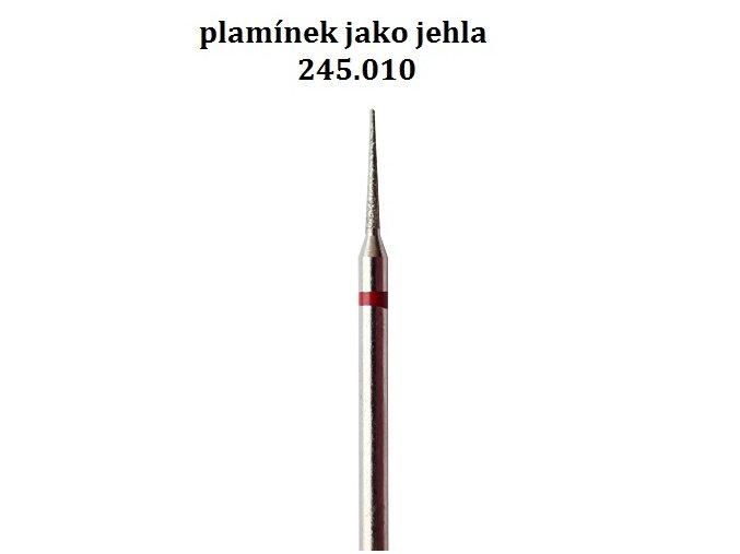 FRÉZA DIAMANTOVÁ plamínek červený jemný 245 (vybrat průměr)