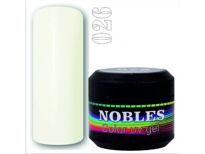 UV/LED GEL IVORY WHITE 026 (5ml)  5ml.