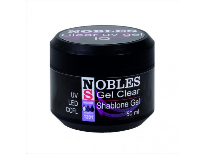 UV/LED GEL NOBLES IQ CLEAR  pinčovácí na šablony