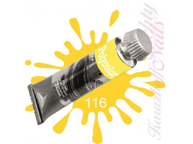 Akrylová barva na nehty POLYCOLOR Primary Yellow (116)