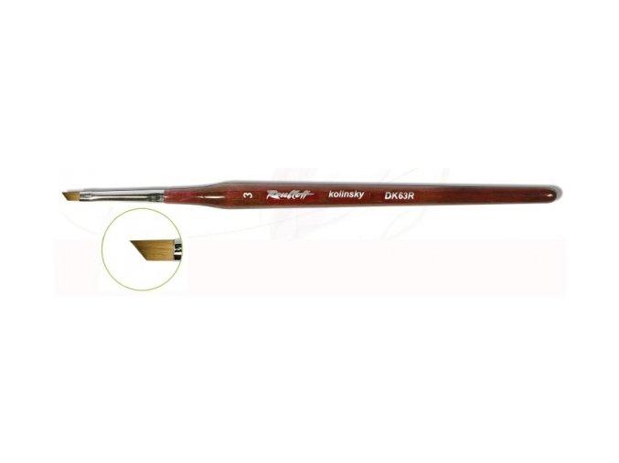 DK63R-04 štětec pro Gel + One Stroke zkosený (šířka 4 mm)