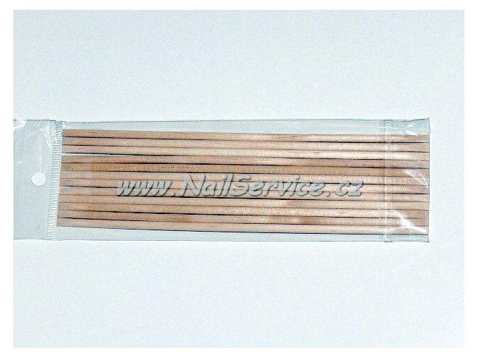 Dřívko na manikúrupomerančové dlouhé  10 ks. (10cm)