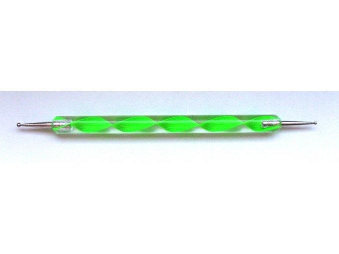 Kulička na zdobení nehtů zelená 1 ks.