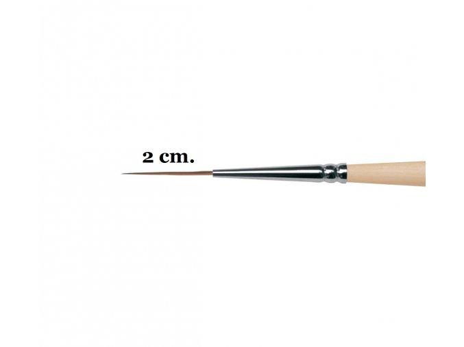 1040 Štětec LINER EXTRA DLOUHÝ pro Nail Art (vybrat velikost)