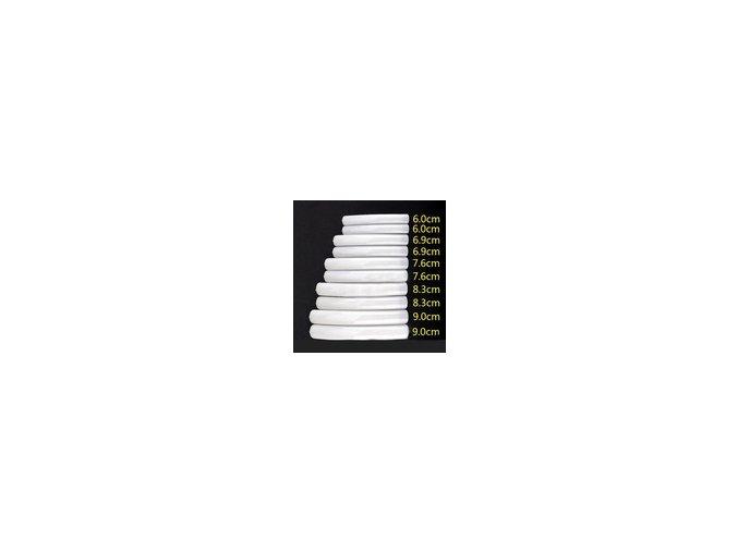 TIP BOX WHITE 10 ks (soutěžní 9,6 cm - 6 cm) Rovné, Bílé