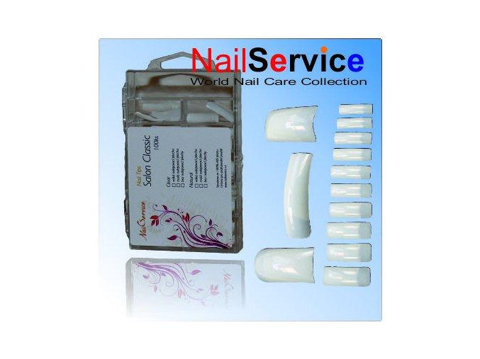 Nail Tips Salon Classic Natural 100Ks/Box s velkou lepící plochou