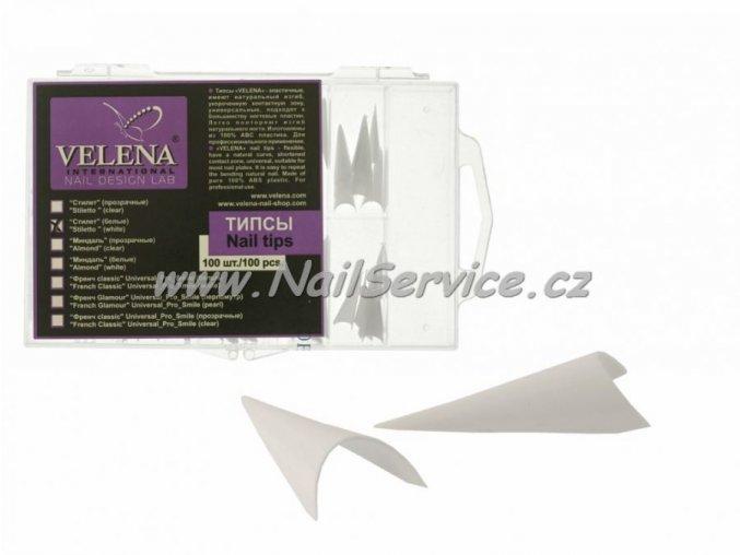 Nail tips VELENA/KODI Stiletto-White 100Ks/Box