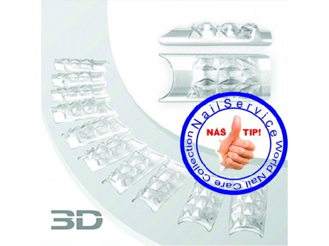 Crystal 3D Nail Tips 100Ks / Box