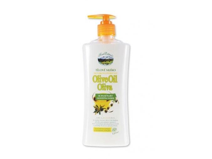 Tělový balzám s olivovým olejem 500 ml.