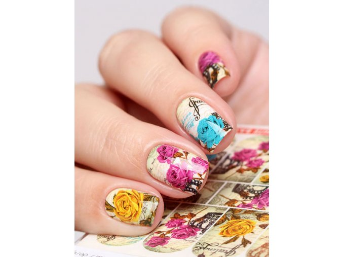 SLIDER NAIL  ART  444 Greetings +