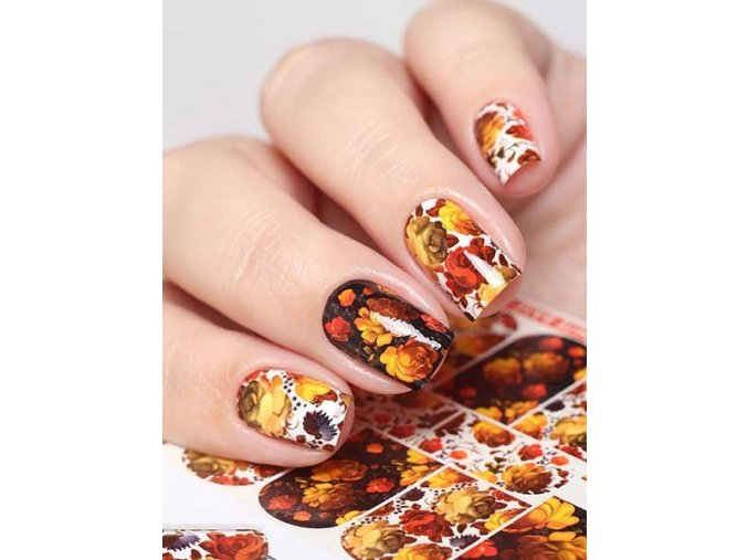SLIDER NAIL ART  623 Flowers