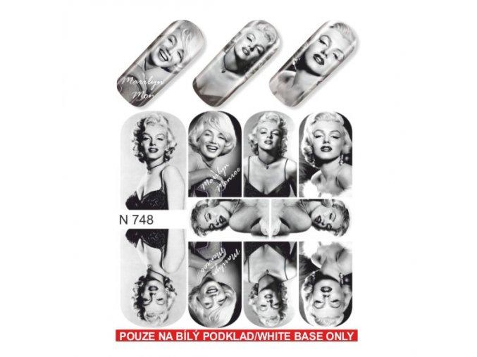 SLIDER NAIL ART  748 Marilyn Monroe