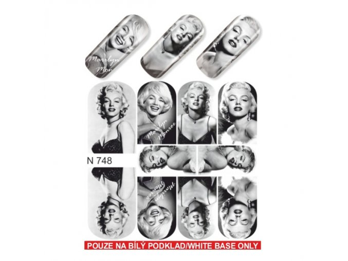 SLIDER NAIL ART  748 Marilyn Monroe