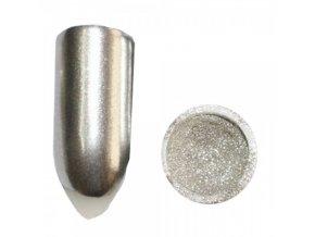 PIGMENT CHROME MIRROR SILVER + aplikátor Lešticí stříbrný  pigment
