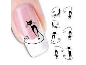 Vodolepka na nehty Kočky černé