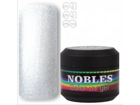 UV/LED GEL GLITTER  WHITE 322  5ml.