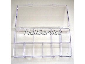 BOX na Dual Formy, tipy ozdoby Nail Art  (12 přihrádek)