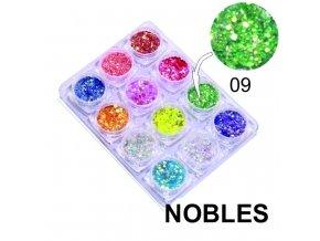334 fimo zdobeni tycinka motiv kytka kulata zelena