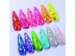 FIMO -  Fialovo - žluté květy 30 ks.