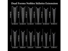 DUAL  FORMS NOBLES STILETTO EXTENSION  na prodloužení nehtů  (Vybrat množství)