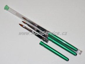 Štětec zelený na akryl,gel. přírodní skládací č.6