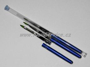 Štětec modrý na akryl,gel. přírodní skládací č.2