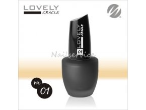 Crackle BLACK Praskací lak na nehty 15ml