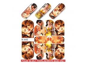 SLIDER NAIL ART 445 LOVE