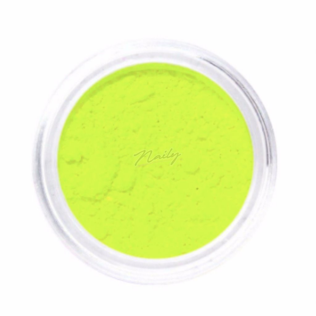 Neónovo žltý pigmentový prášok na nechty