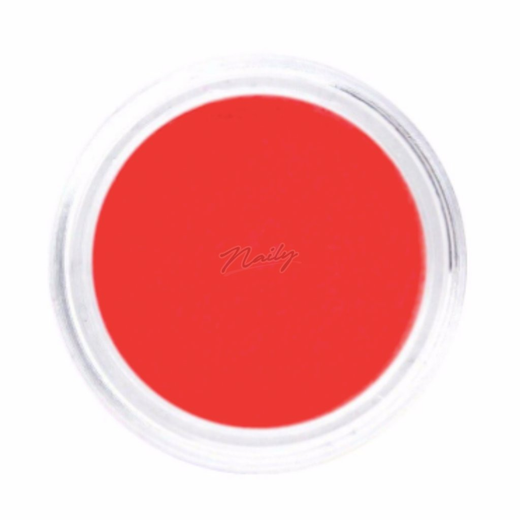 Neónovo červený pigmentový prášok na nechty