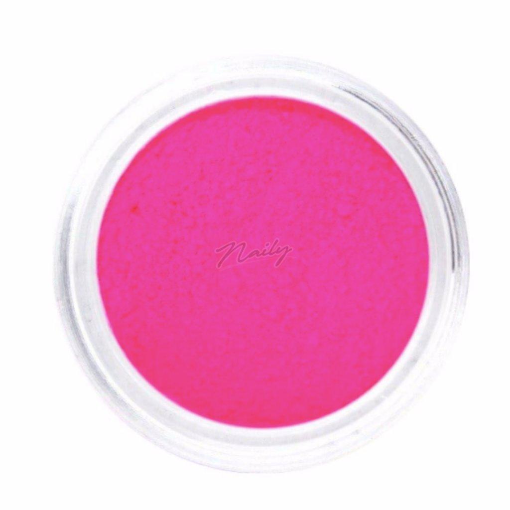 Neónovo ružový pigmentový prášok na nechty