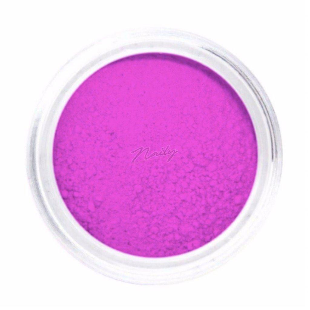 Neónovo fialový pigmentový prášok na nechty