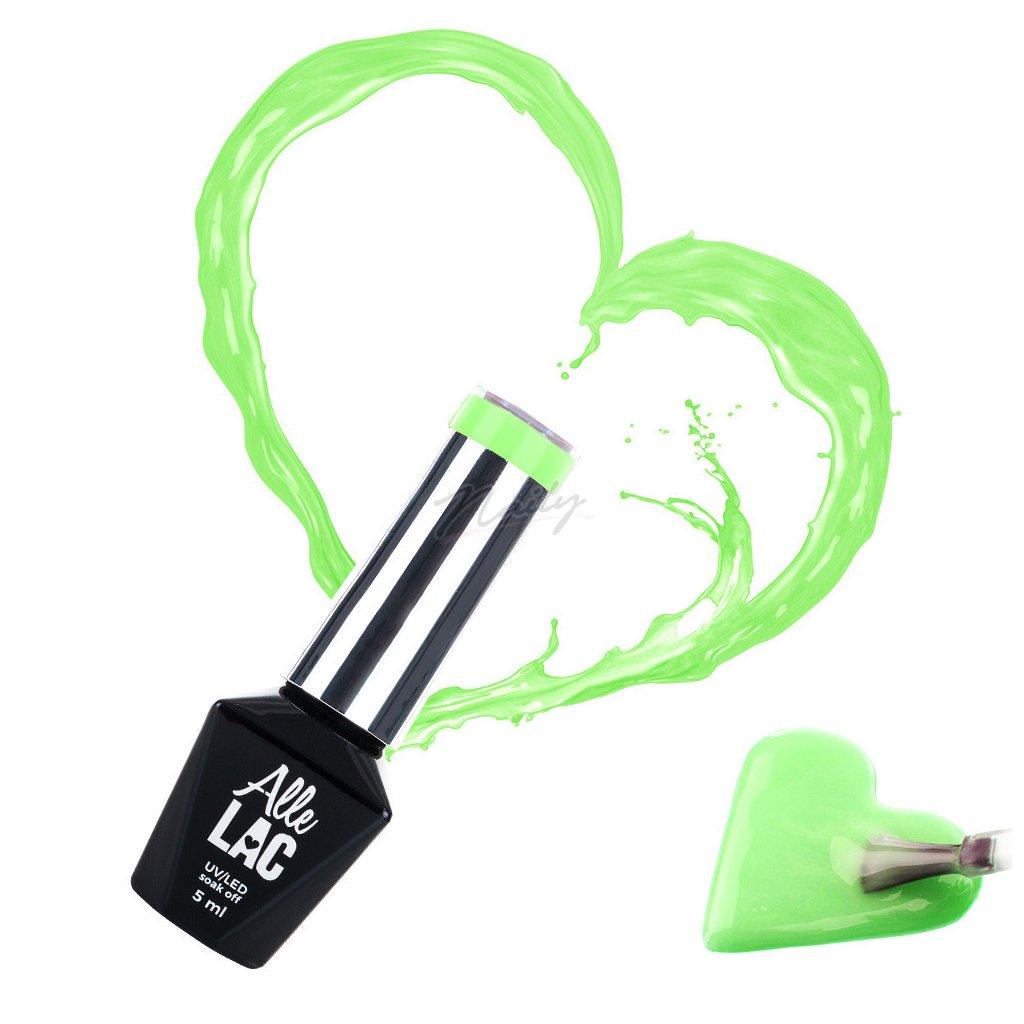 neonovo zeleny gel lak