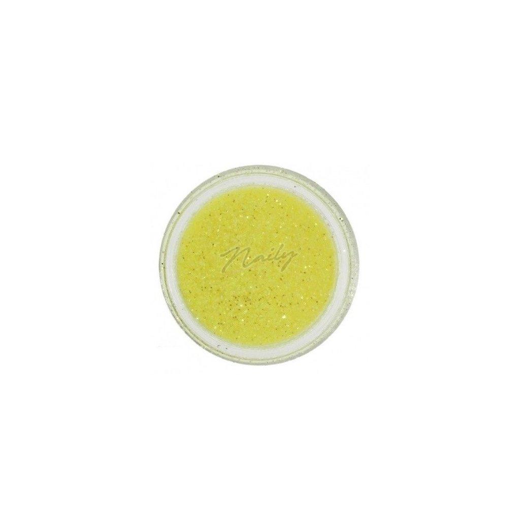 Žlté glitre na nechty