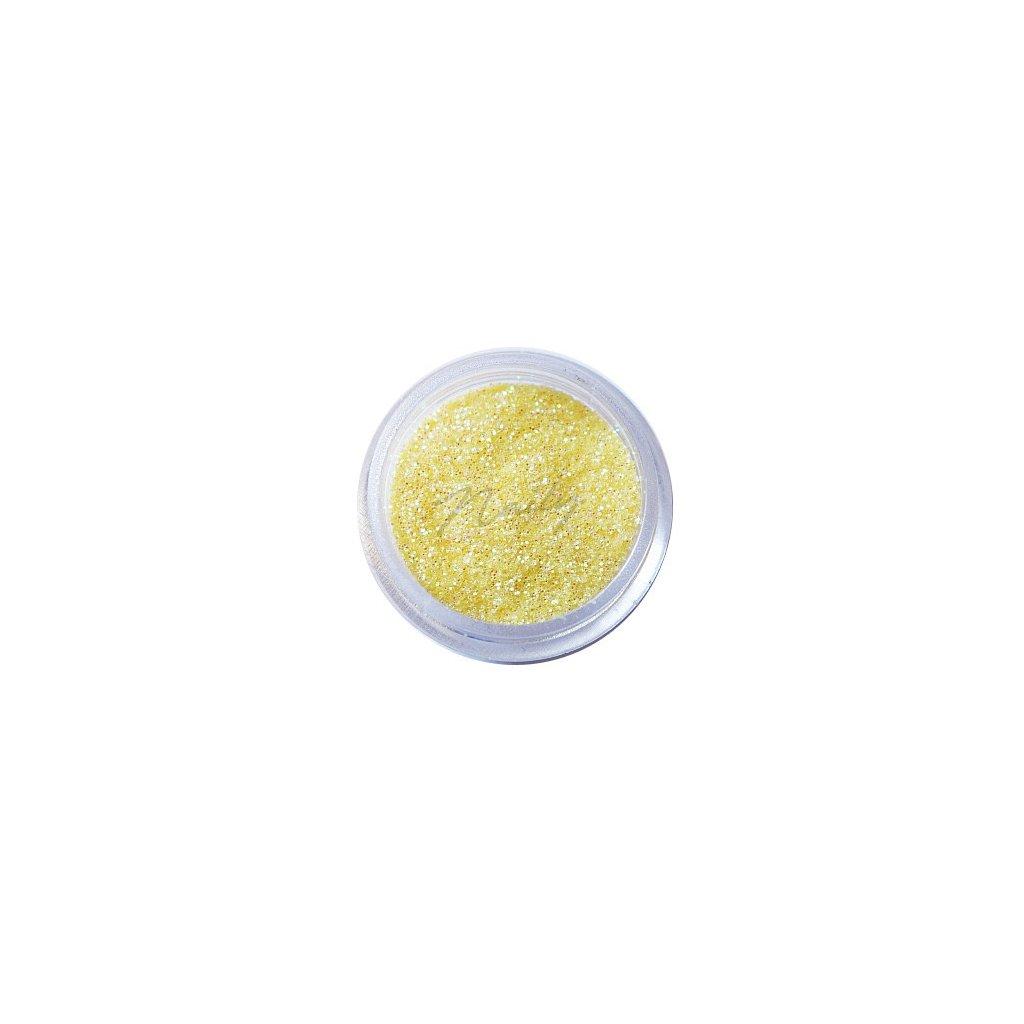 Pastelovo žlté glitre na nechty