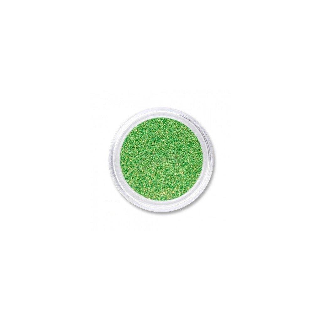 Zelené glitre na nechty